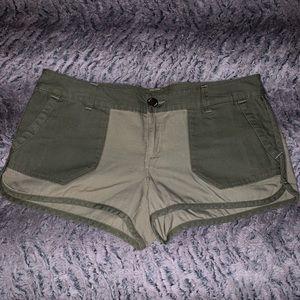 Military Khaki ROXY Shorts